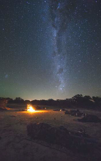 Sleeping under the stars on the Lowveld Primitive Trails, Walking Safari.