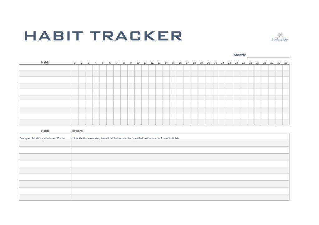 Habit Tracker A Backyard Hiker
